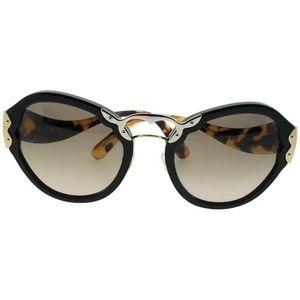 PR09TS-1AB3D0 Women's Black Frame Sunglasses NWT